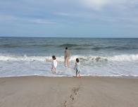 Beach walk along the Caribbean coast of the Riviera Maya, Mexico