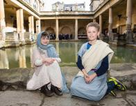 Family Activity at The Roman Baths
