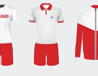 Royal Caribbean lifeguard uniforms.