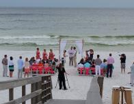 Wedding on the beach at Hilton Sandestin Resort, Florida