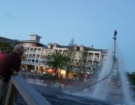 Baytowne Wharf Village has free Flyboard acrobatics show.