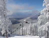Ski Santa Fe view of chairlifts