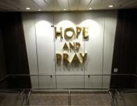 Words play a big part in the wall art aboard Quantum of the Seas.
