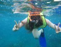Snorkeling off island of Provo, Turks & Caicos