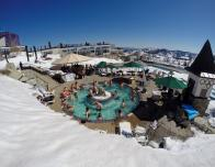 Hot tubs and pools at High Camp, Squaw Alpine; photo c. Matt Palmer.