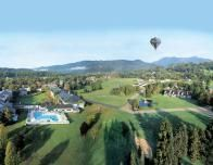 Aerial view of Stoweflake during Balloon Festival