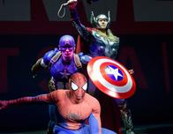 posing for the Marvel Day at Sea on Disney Magic