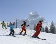 Sunny ski slopes of Mount Titlis in Engelberg, Switzerland