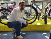 Van Moof Bike Shop owner Taco Carelli at Brooklyn store.