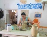 Talavera Craftsperson at work in Puebla.