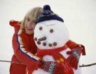 Snowman Love at Taos Ski Valley, New Mexico