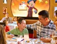 On Disney cruises, onboard characters dress for themed meals at all restaurants.