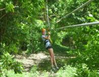 Ziplining at Morne Courbaril