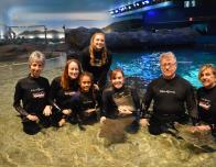 Group for Stingray Experience at Ripleys Aquarium, Toronto