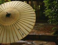 Japanese wagasa umbrella made at Kayotei