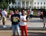 My Sister and Me in Front of the White House.