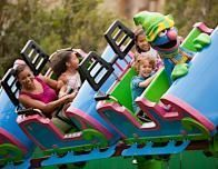 Grover's Alpine Express is designed for toddlers and grandparents.