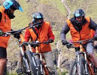 Mountain biking with Viator's Inca Jungle Trek in Peru.
