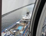 View of the ship from 302 feet above sea level in the Northstar.