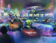 Alien Swirling Saucers ride at Disney World; concept art courtesy Disney