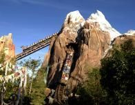 Expedition Everest coaster at Animal Kingdom has great Himalayan theming.