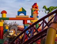 Slinky Dog Dash ride at Toy Story Land in Disney World; photo by Matt Stroshane