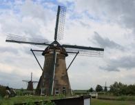 A Typical Dutch Windmill.