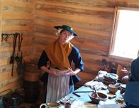 Bakery in the recreation farmstead at American Revolution Museum at Yorktown.