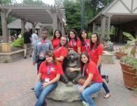 At the Omaha, Nebraska, Zoo in One of Our Field Trips during the Camp