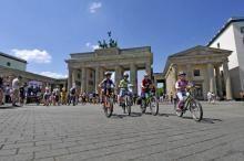 Brandenburg Gate in Berlin, Germany.