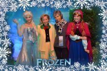 Godmother Meg Gets Autographs from Anna & Elsa, with Photopass magic.
