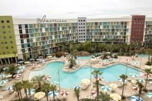 Aerial view of Cabana Bay Beach Resort at Universal Orlando