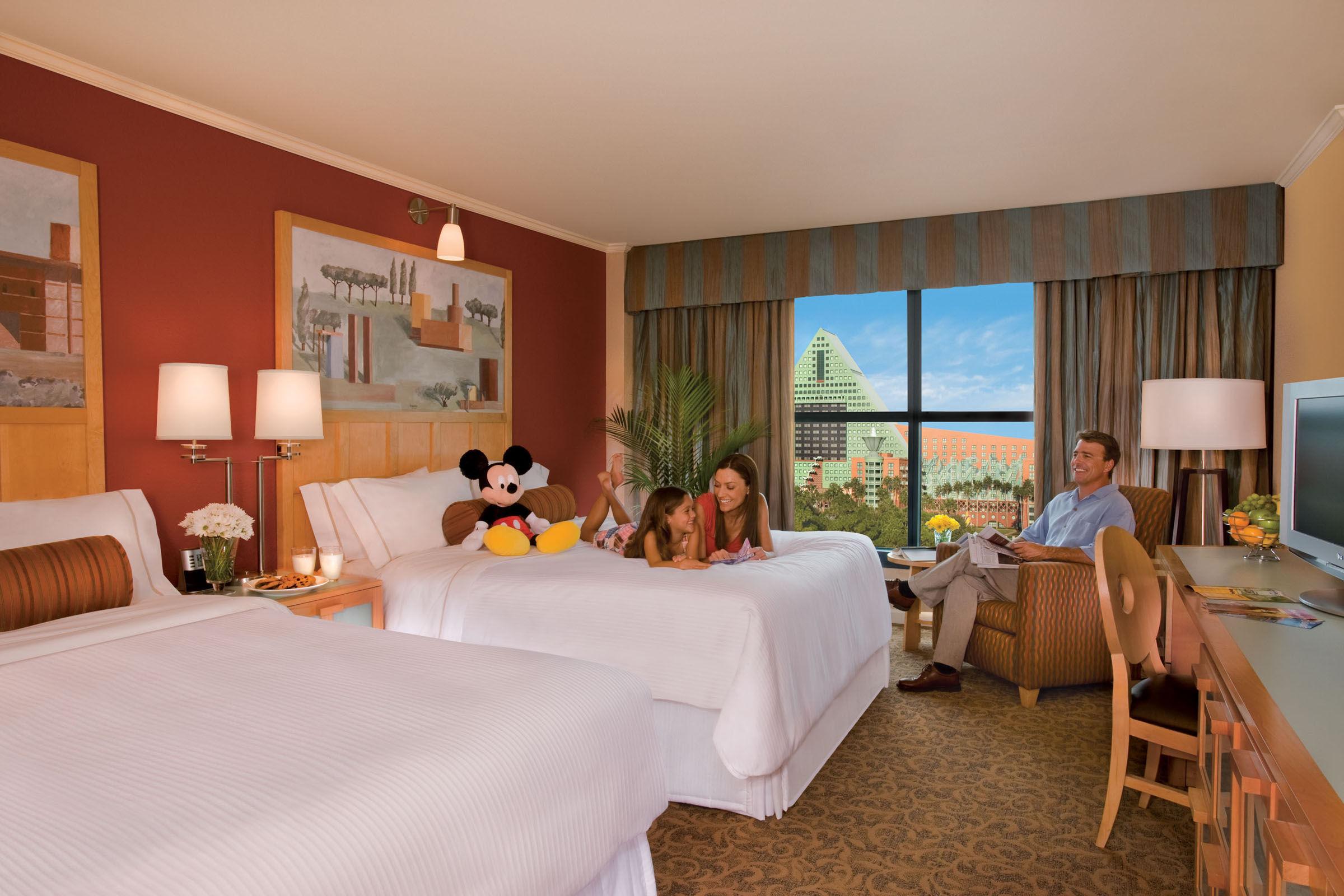 Walt Disney World Swan Family Room