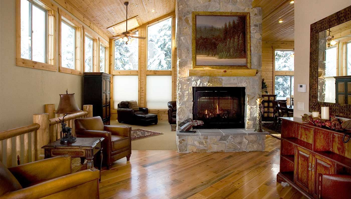 ... Mountain Home Living Room At Sundance Resort, Utah